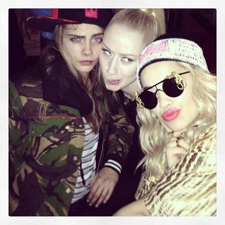 Iggy Azalea, Cara Delevingne and Rita Ora