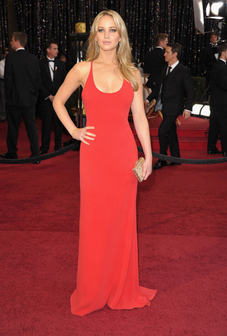 Jennifer Lawrence in Calvin Klein dress at the Oscars 2011
