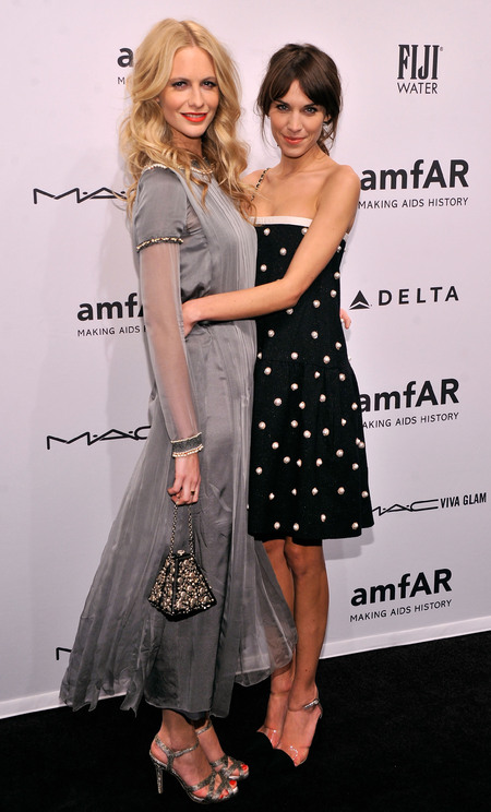 Alexa Chung & Poppy Delevingne at amfAR New York Gala