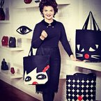 BAG LOVE: Lulu Guinness' red nose day tote bags