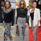 Kimberley Walsh, Nicole Richie and Amy Childs do monochrome