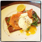 Rosie Huntington-Whiteley's smoked salmon lunch