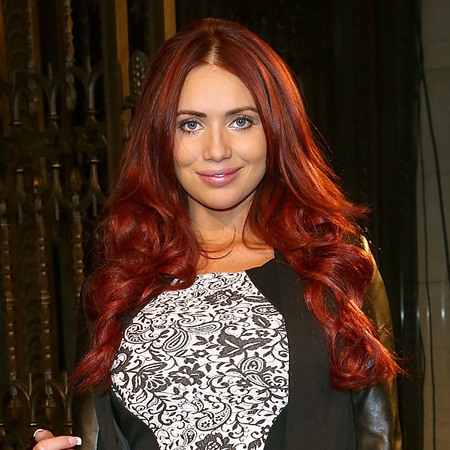 Amy Childs at London Fashion Week AW13
