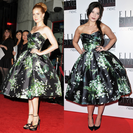 Amy Adams and Daisy Lowe in Dolce & Gabbana floral prom dress