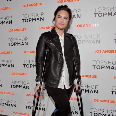 Demi Lovato at Topshop Topman LA store opening