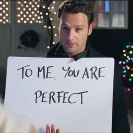 Love Actually romantic scene