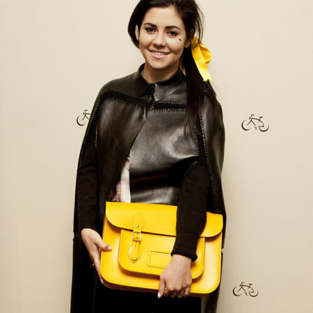 Marina Diamandis at The Cambridge Satchel Company store launch, Covent Garden, London