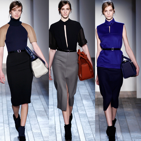 AW13 PREVIEW: Victoria Beckham shows off next season handbags at New