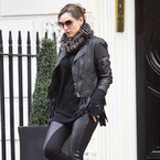 Kelly Brook leathers up for shopping trip to Vivienne Westwood