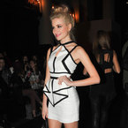 LFW: Pixie Lott dons daring monochrome at Sass & Bide AW13
