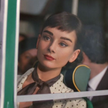 Audrey Hepburn Galaxy Advert 