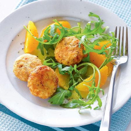 Spicy Falafels with orange salad