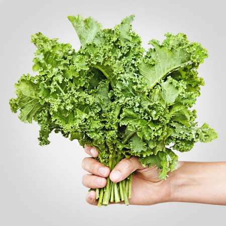Kale, leafy green vegetables