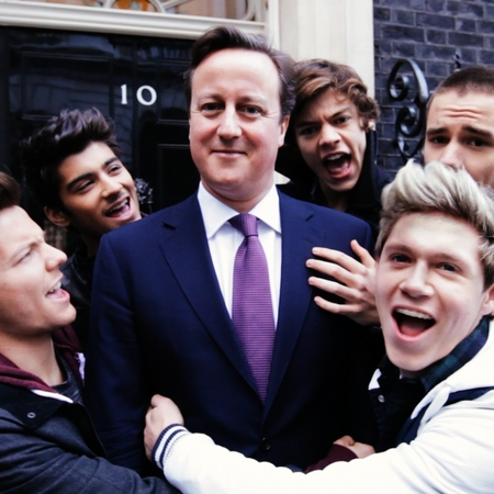 One Direction and David Cameron for Comic Relief