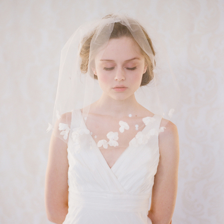 birdcage wedding bridal veil