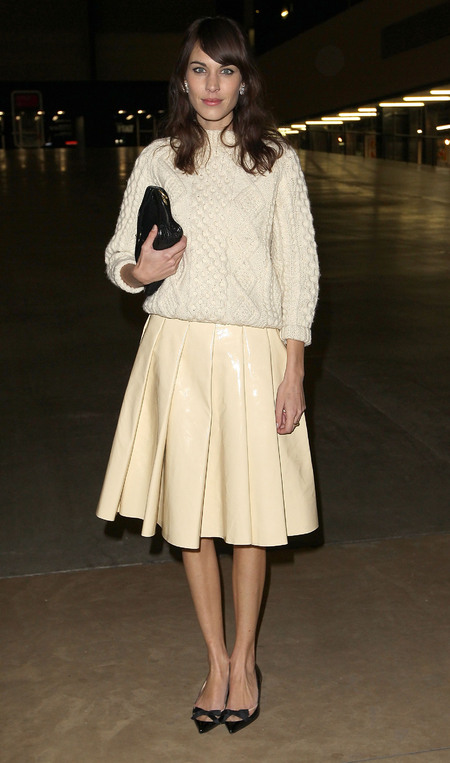 Alexa Chung at London Fashion Week AW13