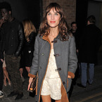 Alexa Chung's Louis Vuitton clutch at the BRITs