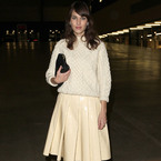 LFW: Alexa Chung looks lovely in lemon at J.W. Anderson AW13