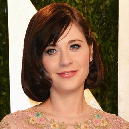 Zooey Deschanel at Vanity Fair Oscars afterparty