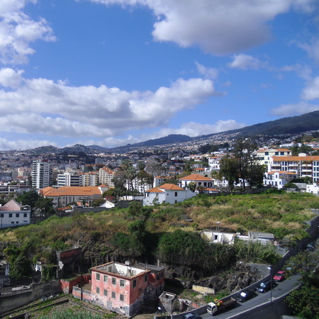 Cable Car view Madeira travel piece