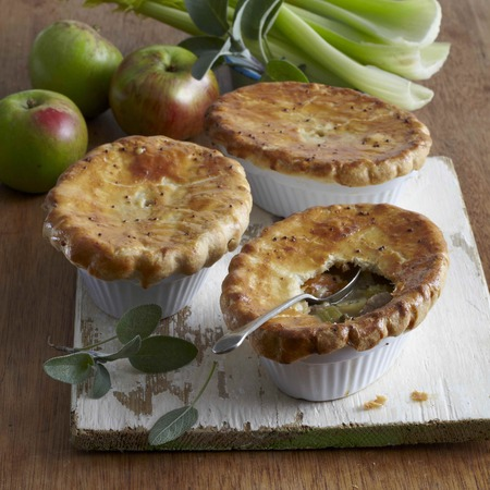 British Pie Week Recipe: Individual Pork, Cider, Sage and Apple Pies