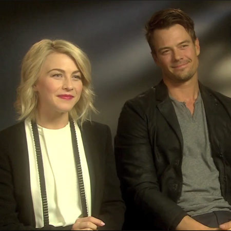 Josh Duhamel and Julianne Hough - Safe Haven junket