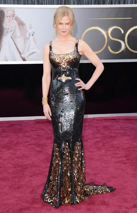 Nicole Kidman wears L'Wren Scott at the Oscars 2013