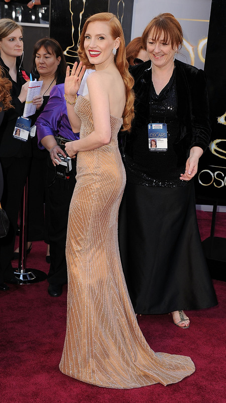 Jessica Chastain at 2013 Oscars