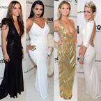 Celebrity style at Elton John's Oscars afterparty