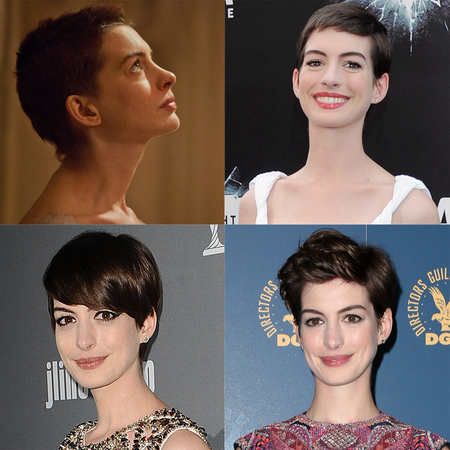 anne hathaway hair growing out