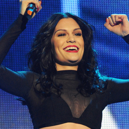 Jessie J's wet look curls