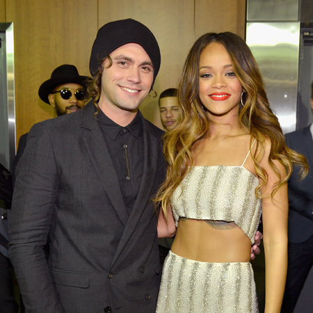 Mikky Ekko and Rihanna at the Grammys 2013 party