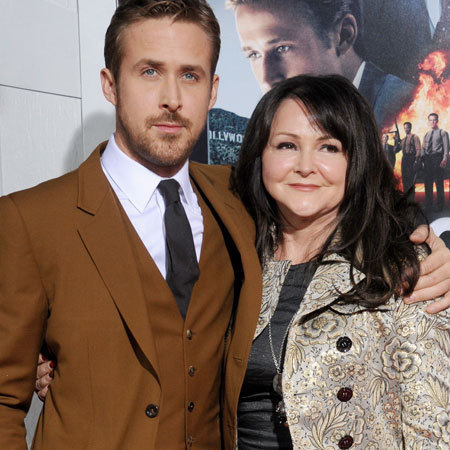 Ryan Gosling and his mum Donna Gosling at the Gangster Squad Los Angeles Premiere