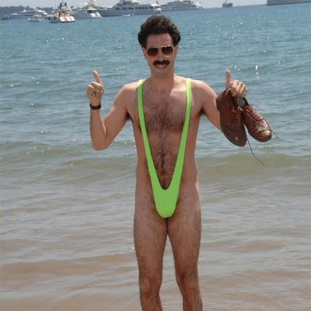 Sacha Baron Cohen in a mankini as Borat