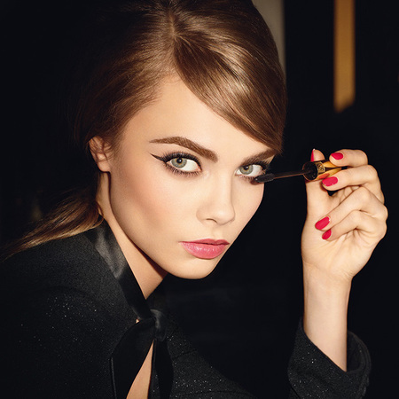 Cara Delevingne for YSL Baby Doll mascara