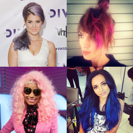 Celebrity trend bright hair