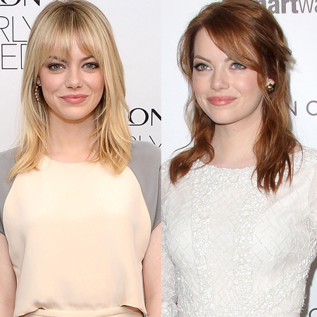 Emma Stone blonde and red hair