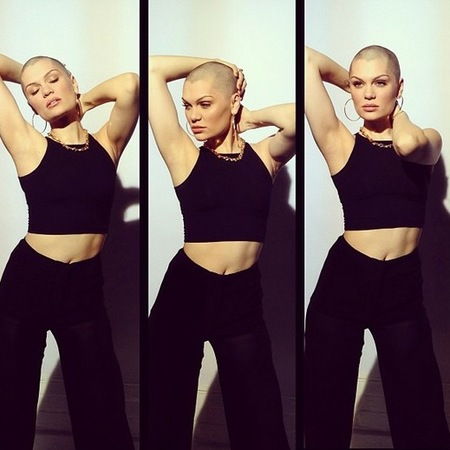 Jessie J's first photoshoot with no hair