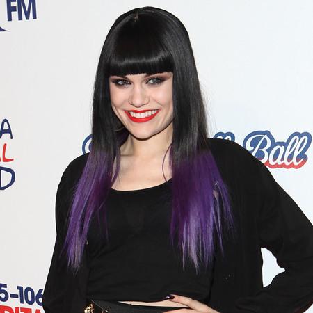 Jessie J's purple dip dye