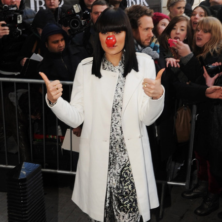 Jessie J wears printed jumpsuit outside BBC Radio 1