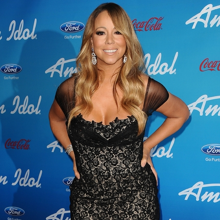 Mariah Carey at American Idol red carpet