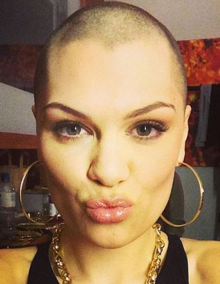 Jessie J shaved head for Comic Relief