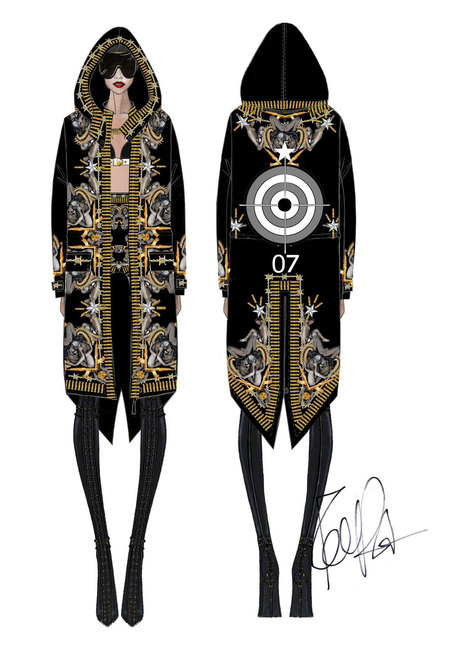 Rihanna Givenchy tour costumes