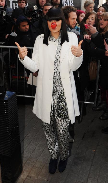 Jessie J wears printed jumpsuit outside BBC Radio 1