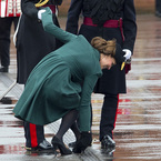 Kate gets heel stuck in a drain at parade