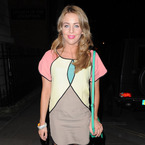 Lydia Bright nails spring pastels in own boutique dress