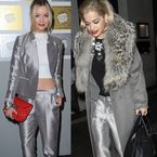 FASHION FIGHT: LAURA WHITMORE V RITA ORA IN SILVER SUIT