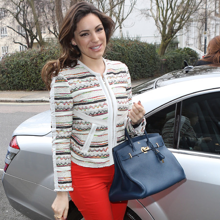 Kelly Brook's Hermes Birkin handbag