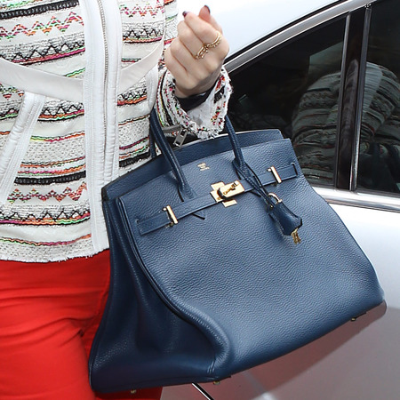 Kelly Brook with Hermes Birkin handbag