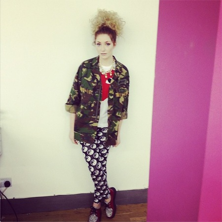 Nicola Roberts in camouflage